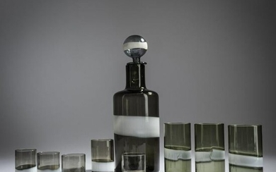 Fulvio Bianconi, 'A fasce' bottle with stopper and