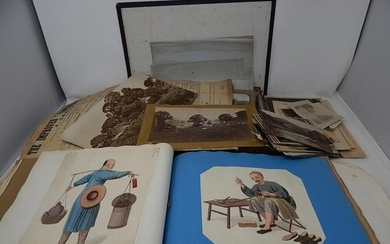 George III & Later Scrap Book Containing Watercolours, Drawi...