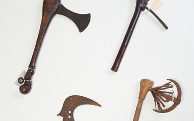 Group (4) West African prestige/ceremonial weapons