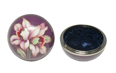 Japanese Cloisonne box by Ando