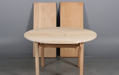 Kurt Østervig. Dining table made in solid oakwood with extension (3)