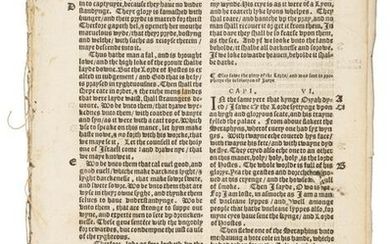 Leaves from 1540 Old Testament in English