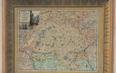 Map of Luxembourg + - 1710