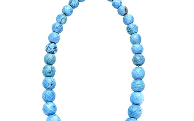 Necklace in silver and Turquoise
