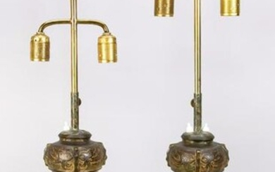 Pair of lamps with vase bases, Chin