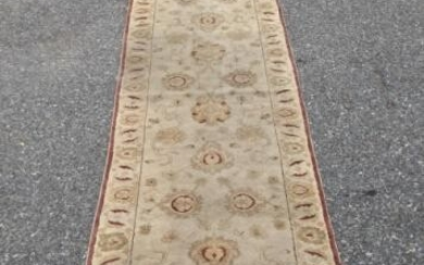 Persian Hand Knotted Floral Wool Carpet Runner