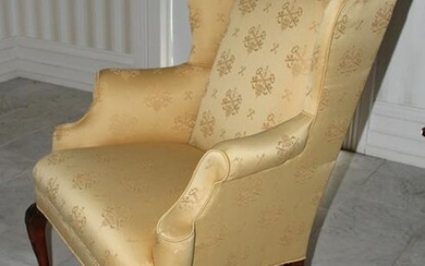 Queen Anne Style Wing Back Armchair