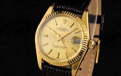 """Rolex - Oyster Perpetual Datejust - 18K Gold - """"NO RESERVE PRICE"""" - 6827 - Unisex - 1970-1979"""