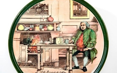 Royal Doulton Charger, Dr Johnson At The Cheshire
