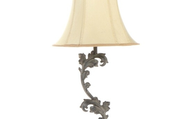 The Silky Way Metal Foliate Table Lamp with Shade