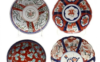 A Group of Four Antique Japanese Imari Bowls
