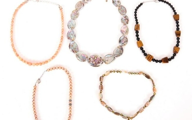 A Group of Necklaces, Coral, Mother of Pearl, Etc..