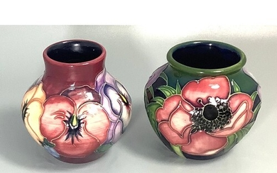 A Moorcroft pottery small vase of ovoid form decorated in th...