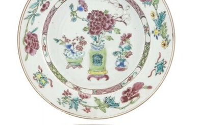 A Pair of Chinese Enameled Porcelain Dishes