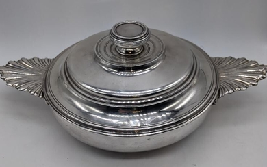 An 18th century French silver equalle, D.18cm, 762g