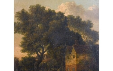 """Attributed to John Crome (1768-1821) British. """"On the Yare"""",..."""