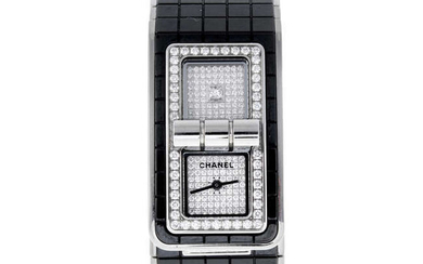 CURRENT MODEL: CHANEL - a lady's bi-material Code Coco bracelet watch.