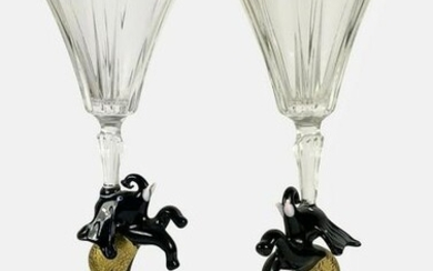 Champagne Flutes With Elephant Stems