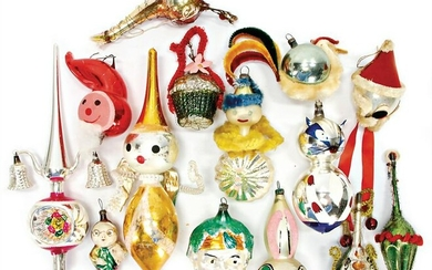 Christmas tree decoration, mixed lot, mostly