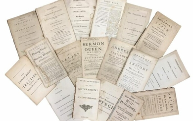 Collection of Various c.18th & 19th Century Pamphlets.