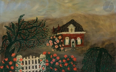 Dirk BOS (1890-1976)My Father's HouseOilon panel.Signed lower right.45 x 60 cm