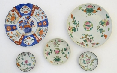 Five assorted Oriental plates to include famille rose