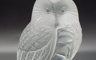 Good looking vintage signed Lalique owl