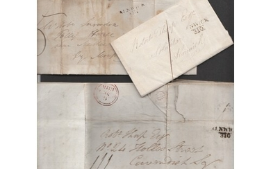 Great Britain, 1812-18 small collection of entires from Aln...