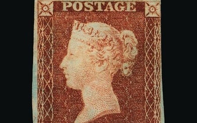 Great Britain - QV (line engraved) : (SG 7) 1841 1d red-brow...