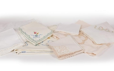 Group of Table and Bed Linens