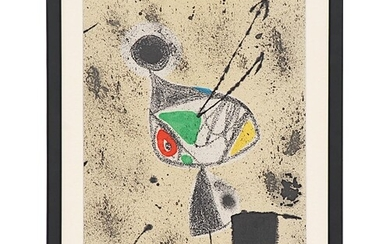 JOAN MIRO 'Abstract Coverture', 1975, with hand signed justi...