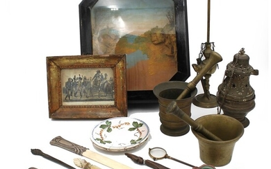 LOTTO DI OGGETTI DI VARIO GENERE - LOT OF OBJECTS OF VARIOUS KIND