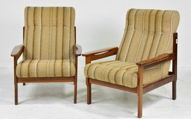 Pair of Mid Century Modern Lounge Chairs