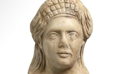 Roman Marble Head of a Lady