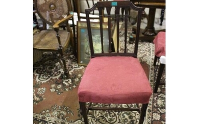 Set of 4 Georgian Revival Mahogany Dining Chairs with Extra ...