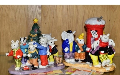 TWO BOXED ROYAL DOULTON LIMITED EDITION RUPERT FIGURE GROUPS...