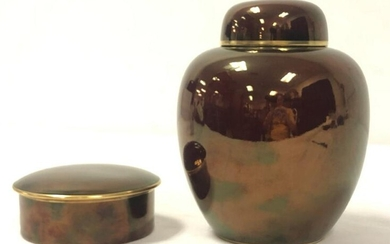TWO PIECES ENGLISH CARLTON WARE ROUGE ROYAL