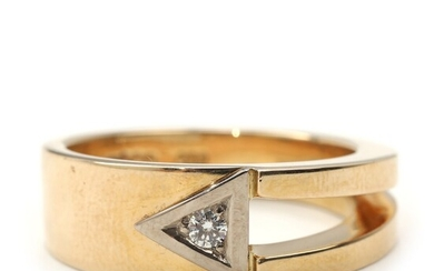 NOT SOLD. Toftegaard: Diamond ring set with brilliant-cut diamond weighing 0.08 ct., mounted in 14k...