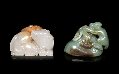 Two Chinese Carved Hardstone Figures of Animals