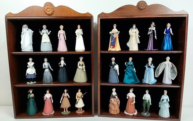 24 Historical Society Dolls with Wall Cases