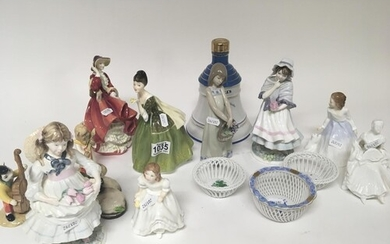 A Lladro figure other Doulton Coalport and Beswick figures H...