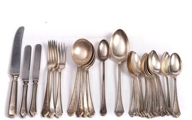 A collection of Furness Bermuda Line silver plated cutlery b...