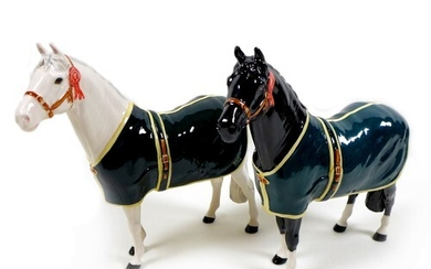 A pair of Beswick ponies modelled as 'Champion Welsh Mountai...