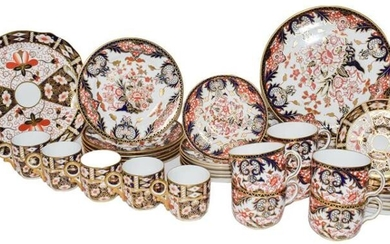 A quantity of Royal Crown Derby Old Imari pattern, plates,...