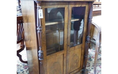 A small mid 19th century French rosewood two door cabinet (f...