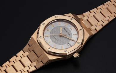 "AUDEMARS PIGUET, A LIMITED EDITION PINK GOLD ROYAL OAK ""NICK FALDO"", Ref. 15097OR"