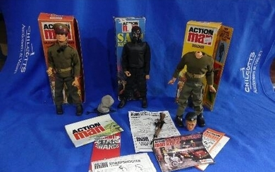 Action Man; A boxed early 1980's SAS Key Figure, with brown ...
