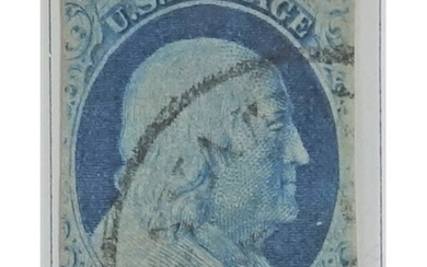 Benjamin Franklin 1 cent stamp, other early United States of...