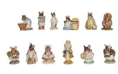 Beswick Beatrix Potter Figures Comprising: Amiable Guinea-Pig, Style One; Anna...