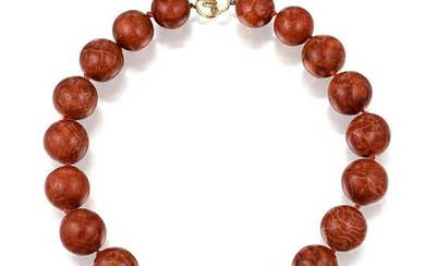 Christopher Walling Red Jasper Bead Necklace